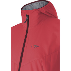 GORE WEAR H5 Windstopper Chaqueta aislante con capucha Mujer, hibiscus pink/chestnut red